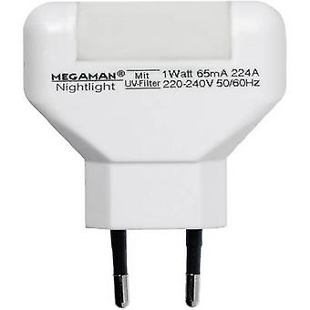 Megaman MM001 MM001 LED night light Rectangular LED (monochrome) Warm white White