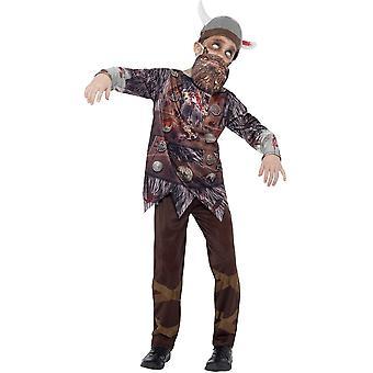 Dziecięce stroje karnawalowe Halloween zombie kostium viking