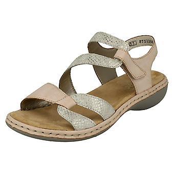 Rieker девушки случайные Slingback сандалии 65969-82 - синтетический Multi - Великобритания размер 5 - ЕС размер 38 - США размер 7