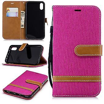 Apple iPhone obudowy XR telefon komórkowy sprawa torba ochronna komory etui portfel różowy