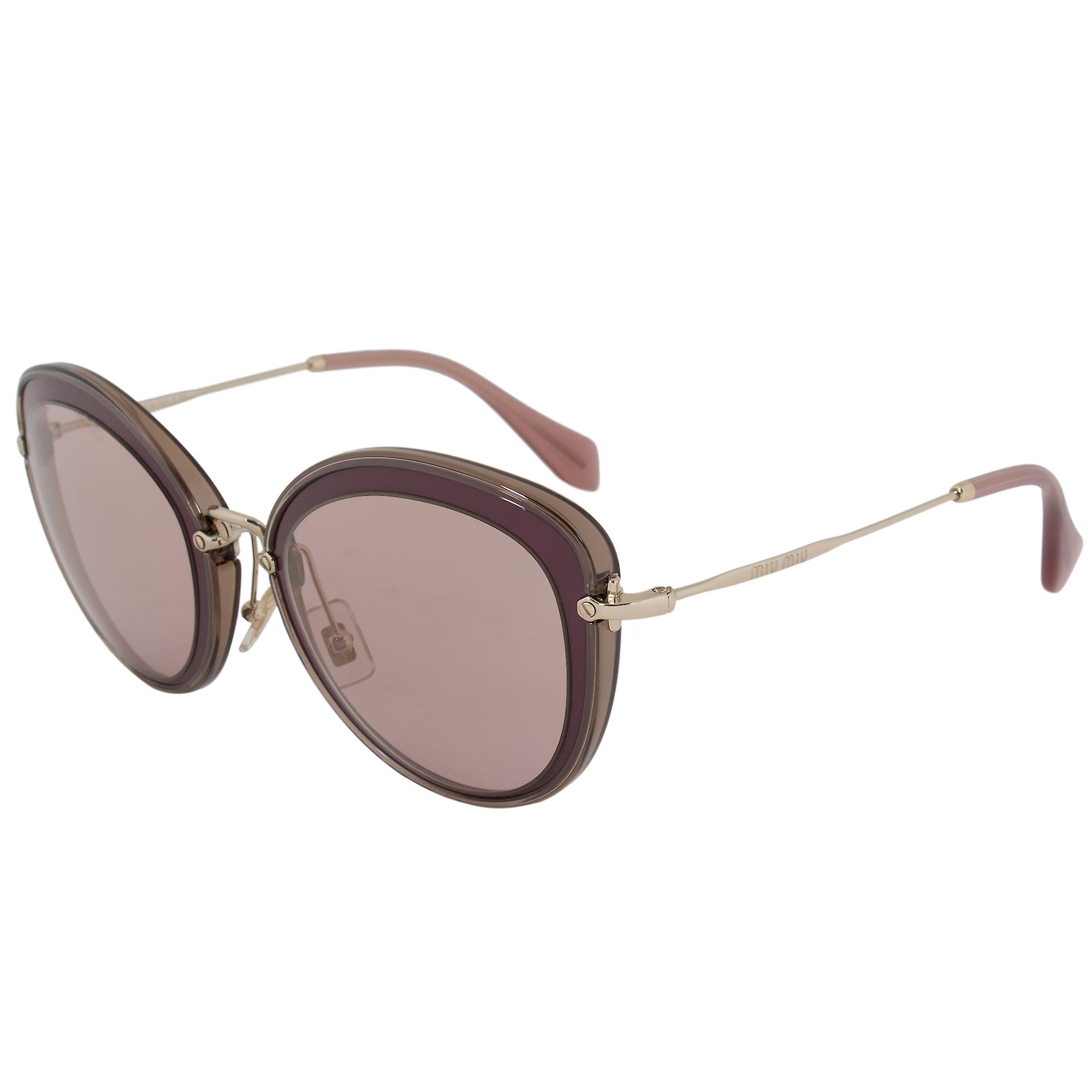 Miu Miu Round Sunglasses SMU50RS TKW4M2 54 | Purple Frame | Gold Mirror Lenses