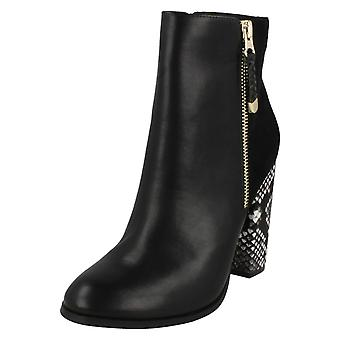 Ladies Anne Michelle High Snake Heel Ankle Boots F50634