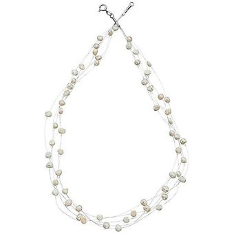 Beginnings Freshwater Pearl Multi Strand Necklace - White/Silver