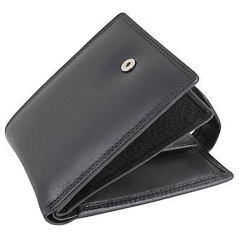 Dalaco Leather RFID Trifold Wallet - Black