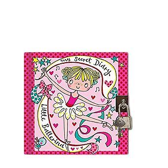 Rachel Ellen Ballerina Design Secret Diary With Padlock and Key