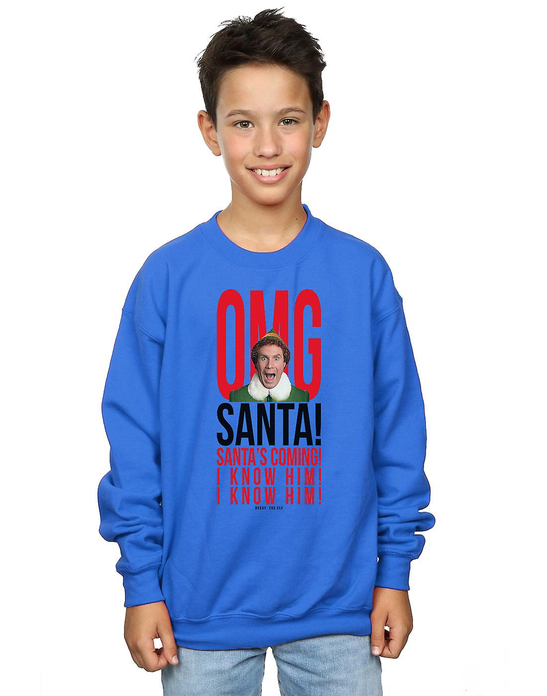 Elf Boys OMG Santa I Know Him Sweatshirt