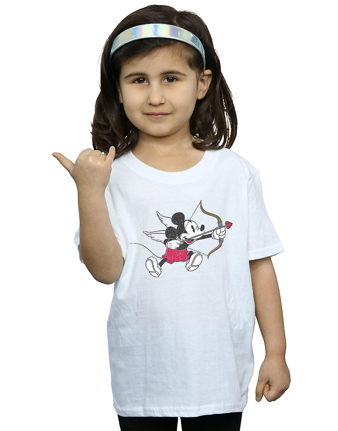 Disney Girls Mickey Mouse Love Cherub T-Shirt