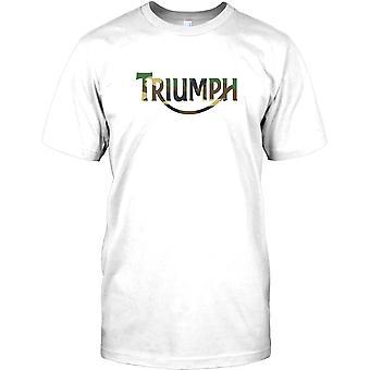 Triunfo Camoflage Logo - Biker Cool Kids T Shirt