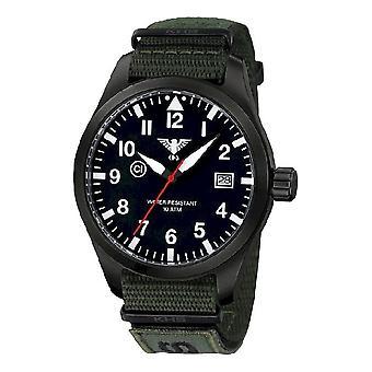 KHS horloges mens watch Airleader zwart staal van KHS. AIRBS. NXTO1