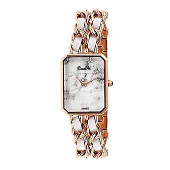 Bertha Eleanor Ladies Swiss Bracelet Watch - Rose Gold/White