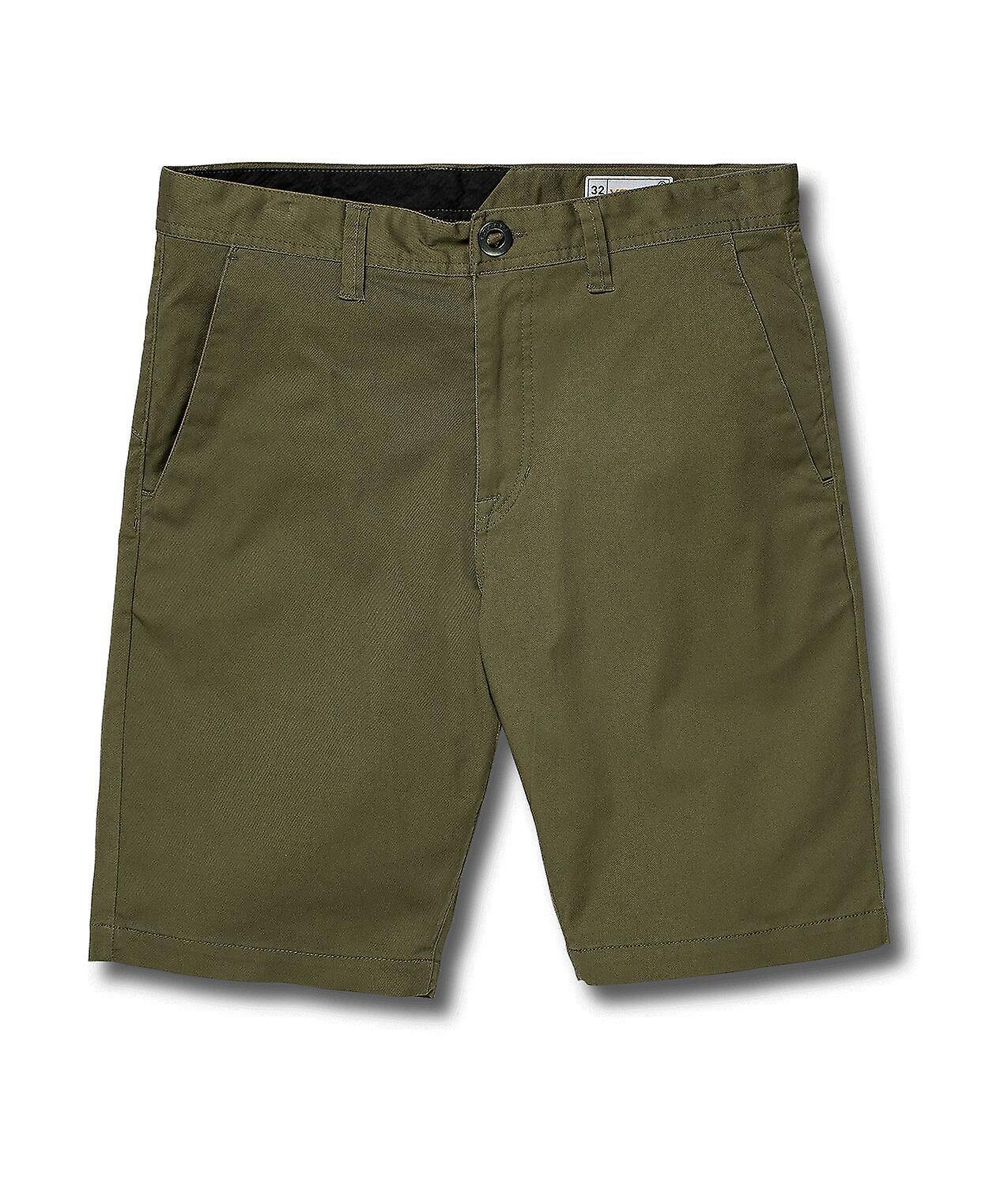 Volcom Men's Stretch Shorts ~ Frickin Modern Stretch army