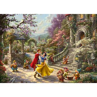 Schmidt Kinkade: Disney, Snow White Dancing with the Prince Jigsaw Puzzle (1000 pieces)