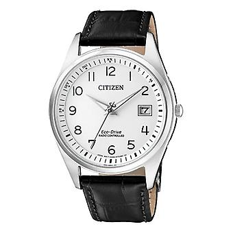 Citizen Solar Analog Man with a leather strap AS2050-10A