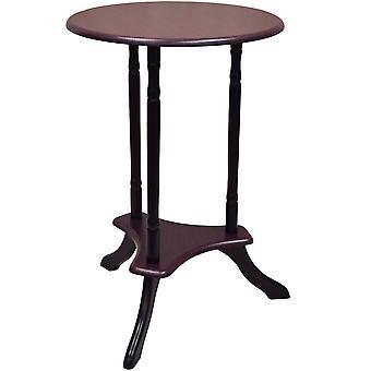 Runde - Holz Telefon / Ende / Nachttisch Tisch - Mahagoni