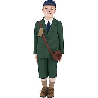 Second World War, evacuated boy costume
