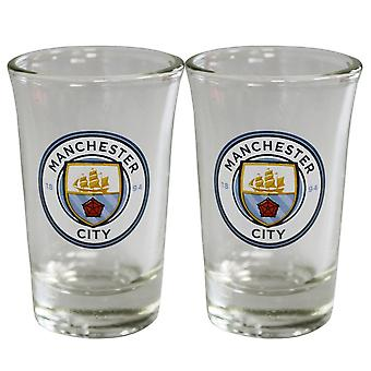 Manchester City FC Shot Glass Set (pakkaus 2)