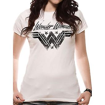 Women's Wonder Woman Movie Ink Effect Fitted T-Shirt