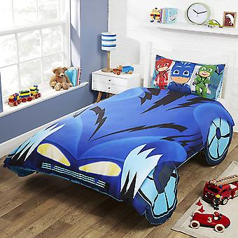 PJ Masks Catboy Car Shaped Single Duvet Cover Set