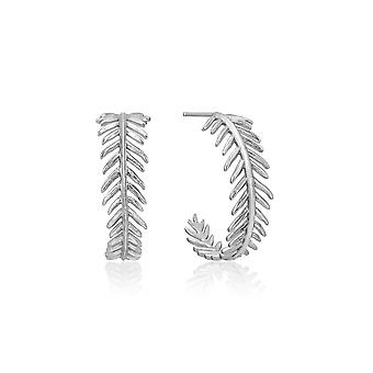 Boucle d'oreille Ania Haie Sterling Silver 'Palm' Hoop