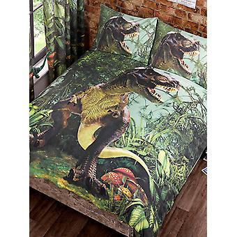 T-Rex Dinosaur Duvet Cover and Pillowcase Set