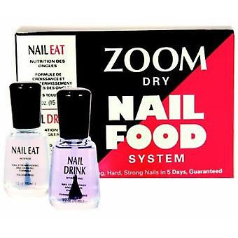 Zoom Dry Nail Food System - Nail Eat & Nail Drink (x2 15ml)