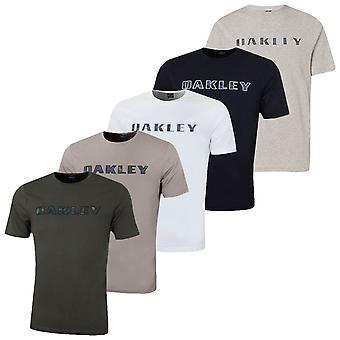 Oakley Mens Durable Lightweight Logo Contrast Stitch Crew Neck T-Shirt
