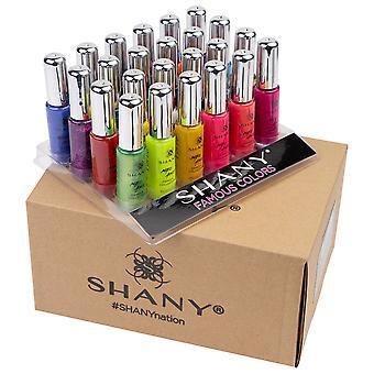 SHANY Nail Art Set (24 Famous Colors Nail Art Polish, Nail Art Decoration)