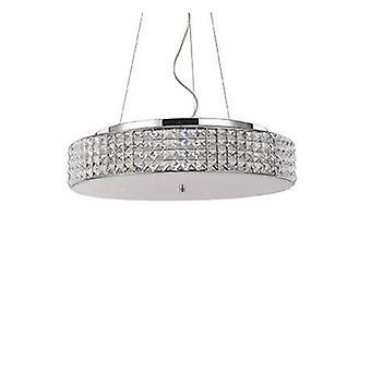 9 lumière petit plafond pendentif chrome