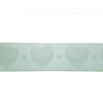 Menta verde plata brillo corazones fondo de pantalla borde Glitz niñas habitación guardería