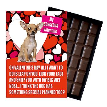 Chihuhua Gift for Valentines Day Presents For Dog Lovers Boxed Chocolate