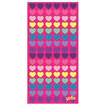 Yello Beach Towel - Heart Design