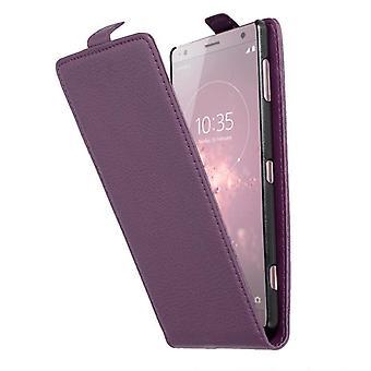 Estojo cadorabo para capa de estojo Sony Xperia XZ2 - Caixa de telefone Flip em couro falso texturizado - Caso Capa Capa Caso de proteção Livro Dobrável Estilo