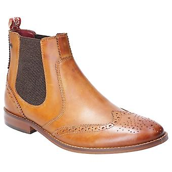 Base London Mens Gaffer Washed Pull On Chelsea Boot