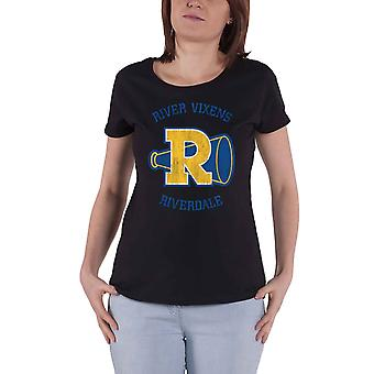 Riverdale T Shirt River Vixens Logo new Official Womens Skinny Fit Black