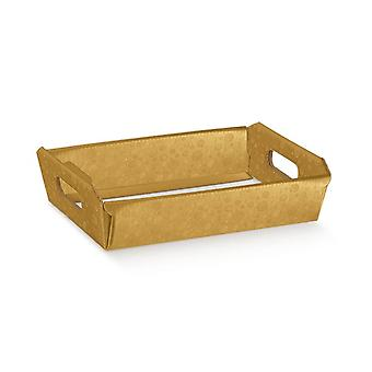 31cm Gold Bubble Cardboard Gift Hamper Tray | Gift Wrap | Christmas Hampers