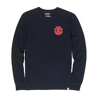 Element Unison Long Sleeve T-Shirt in Flint Black