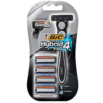 Bic hybrid 4 advance for men, disposable 4-blade system, 1 ea