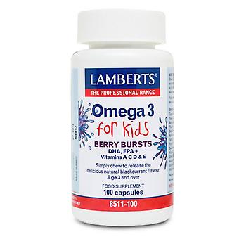 Lamberts Omega-3 for Kids Berry Chew Caps 100 (8511-100)