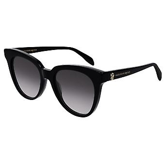 Alexander McQueen  Sunglasses Am0159s 001 53 Iconic Black And Grey Ladies Sunglasses