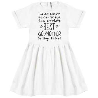 I'm As Lucky As Can Be Best GodMother gehört mir! Baby-Kleid