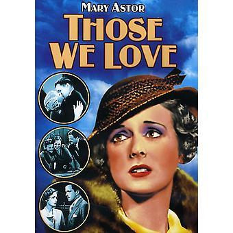 Those We Love [DVD] USA import