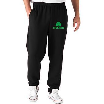 Pantaloni tuta nero dec0179 ireland shamrock
