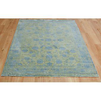 Aqua de seda e414a-d amarillo azul rectángulo alfombras modernas alfombras
