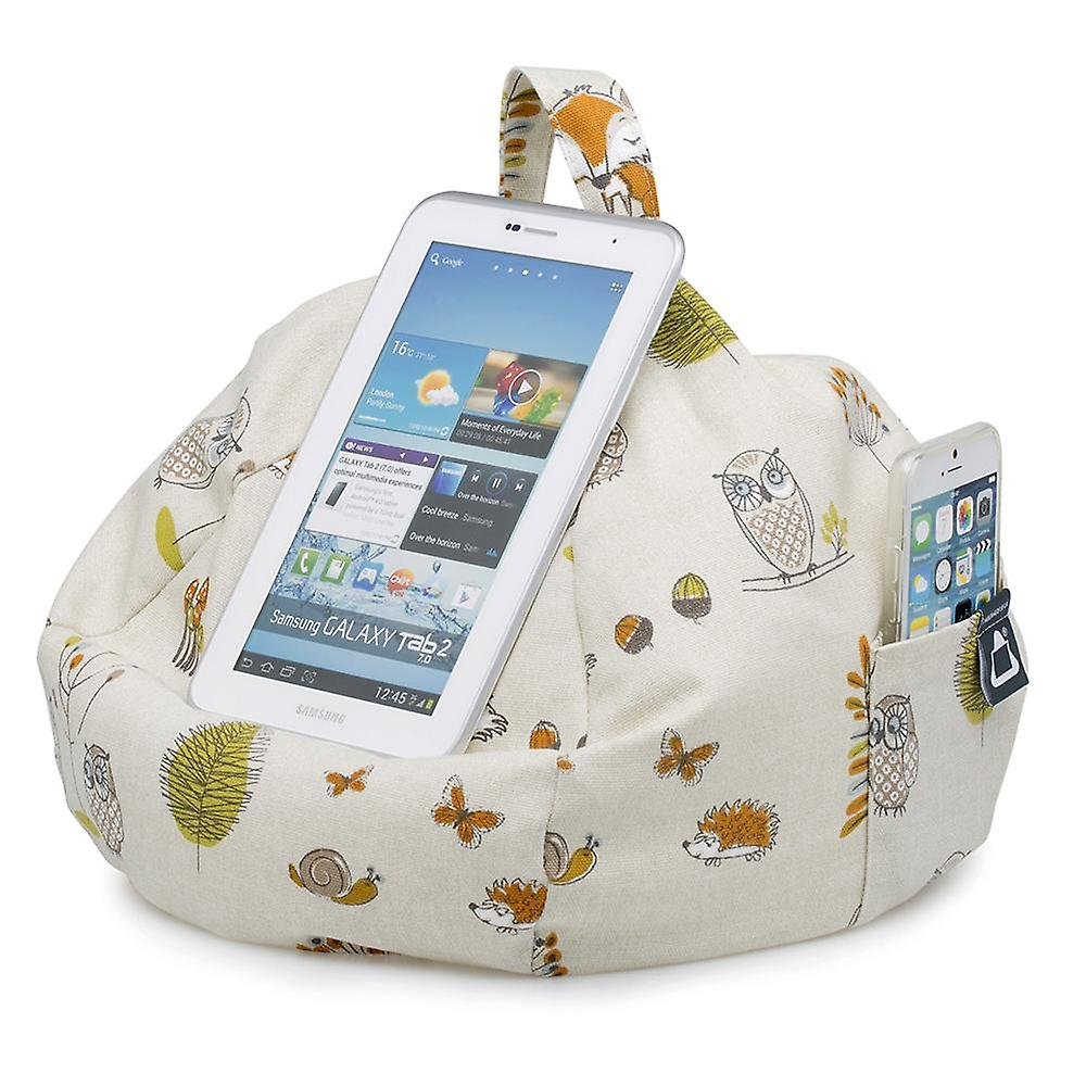 Ipad, tablet & ereader bean bag stand by ibeani - woodland