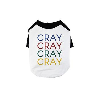 365 Printing Cray Pet Baseball Shirt for Small Dogs Humorous Weekend Personality