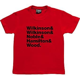 Britische Sea Power Line-Up Red Kids' T-Shirt