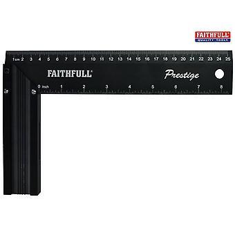 Faithfull Prestige Try Square Black Aluminium 250mm
