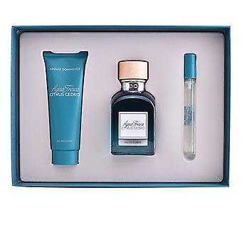 Men's Perfume Set Agua Fresca Citrus Cedro Adolfo Dominguez (3 pcs)