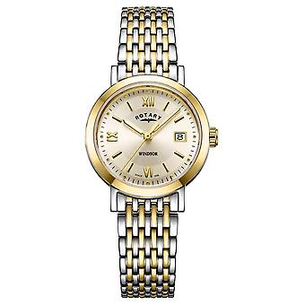 Rotary Womens Windsor Two Tone Gold And Silver Bracelet LB05301/09 Watch