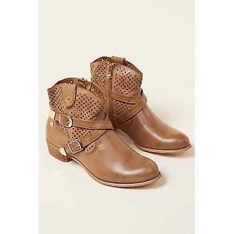 Low boots Maroon Mustang Women 219358